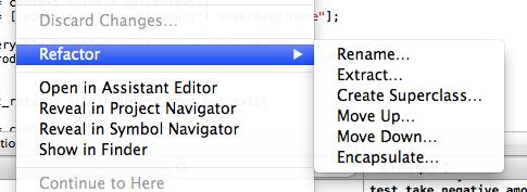 Xcode Refactorings