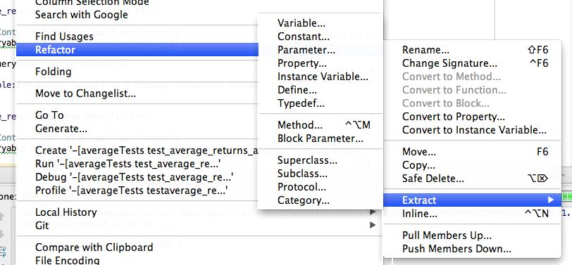 AppCode Refactorings